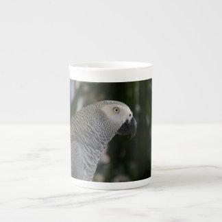 Peaceful African Grey Tea Cup