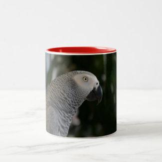 Peaceful African Grey Two-Tone Coffee Mug