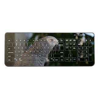 Peaceful African Grey Wireless Keyboard