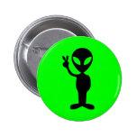 Peaceful Alien 2 Inch Round Button
