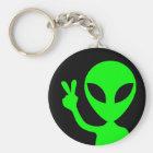 Peaceful Alien Keychain