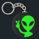 "Peaceful Alien Keychain<br><div class=""desc"">This little alien comes to visit in peace.</div>"