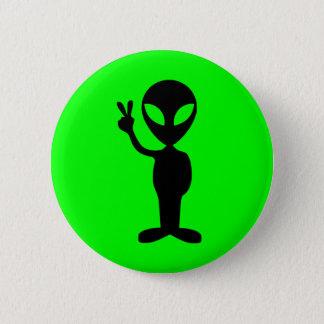 Peaceful Alien Pinback Button