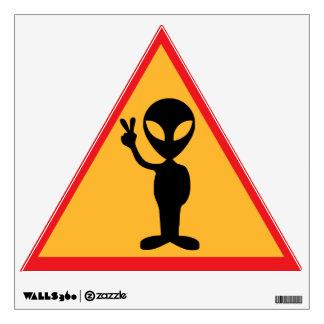 Peaceful Alien Sign Wall Sticker