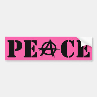 Peaceful Anarchy: Pink and Black Bumper Sticker