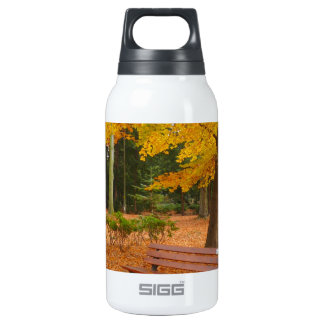 Peaceful and Quiet Autumn in the Park 10 Oz Insulated SIGG Thermos Water Bottle