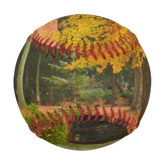 Peaceful and Quiet Autumn in the Park Baseball