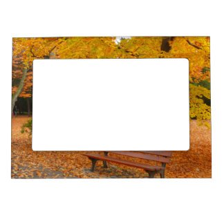 Peaceful and Quiet Autumn in the Park Magnetic Photo Frame