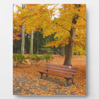 Peaceful and Quiet Autumn in the Park Plaque