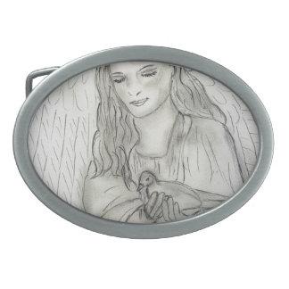 Peaceful Angel Belt Buckles