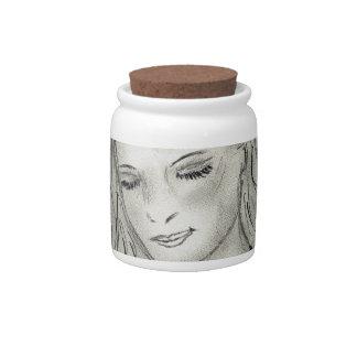 Peaceful Angel Candy Jar