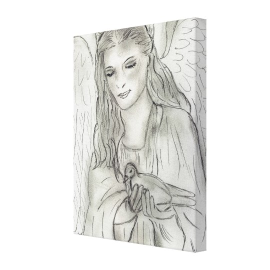 Peaceful Angel Canvas Print