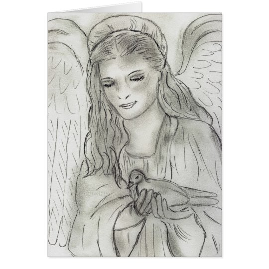 peaceful angel card