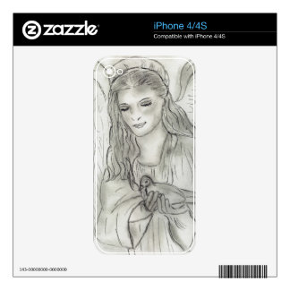 Peaceful Angel Decal For The iPhone 4