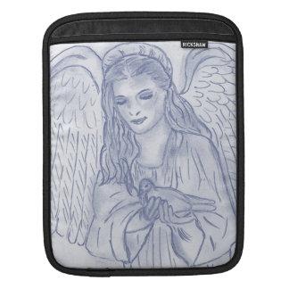 Peaceful Angel in Dusky Blues iPad Sleeve