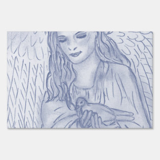 Peaceful Angel in Dusky Blues Sign