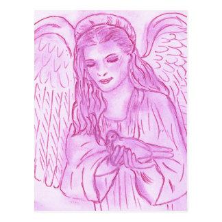 Peaceful Angel in Pink Postcard