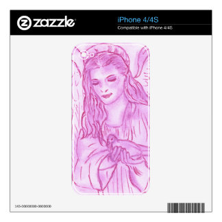 Peaceful Angel in Pink Skins For The iPhone 4