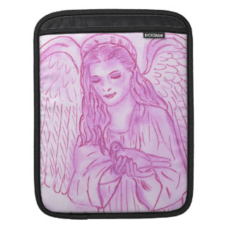 Peaceful Angel in Pink Sleeve For iPads
