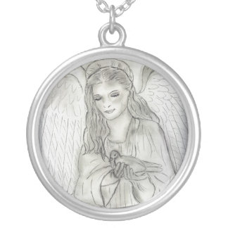 Peaceful Angel Personalized Necklace