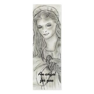 Peaceful Angel Prayer Postcard Business Card