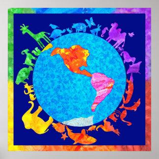 Peaceful Animal Kingdom Poster