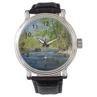 Peaceful At The River Wrist Watches