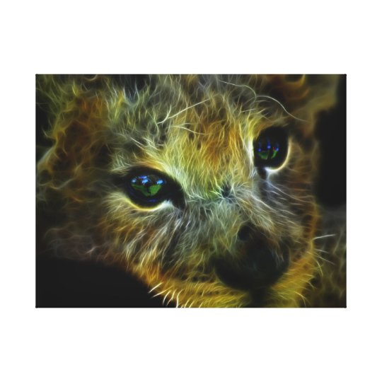 Peaceful baby lion canvas print