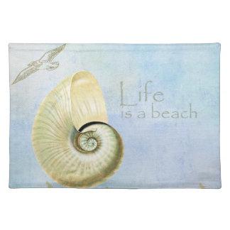 Peaceful Beach II Cloth Place Mat