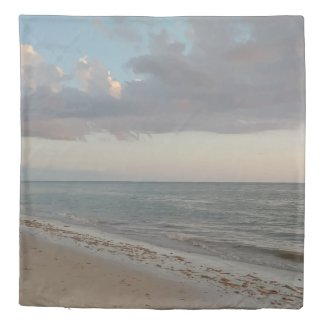 Peaceful Beach Photo Design Duvet Cover