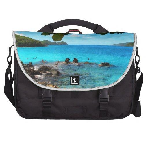 Peaceful Beach St Thomas Commuter Bags