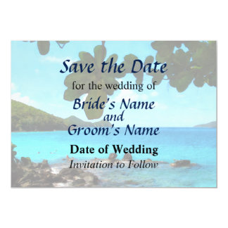 Peaceful Beach St. Thomas II Save the Date Card