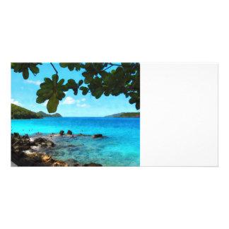 Peaceful Beach St Thomas Photo Card