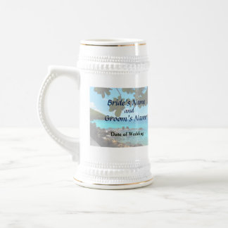 Peaceful Beach St. Thomas Wedding Products Beer Stein