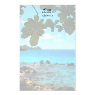 Peaceful Beach St. Thomas Wedding Products Stationery