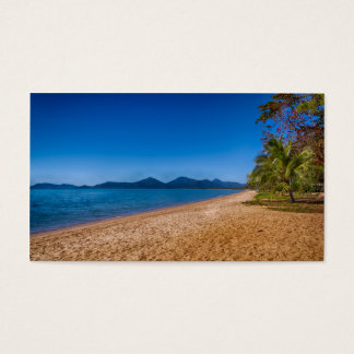 peaceful beach view business card