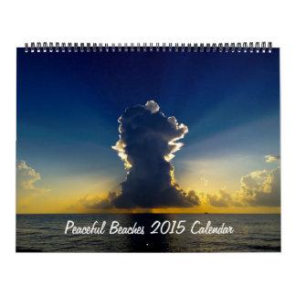 Peaceful Beaches 2015 Calendar