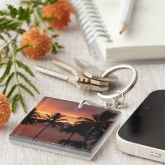 Peaceful Beautiful Beach Keychain