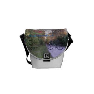 Peaceful Bicycle Trail Mini Messenger Bag