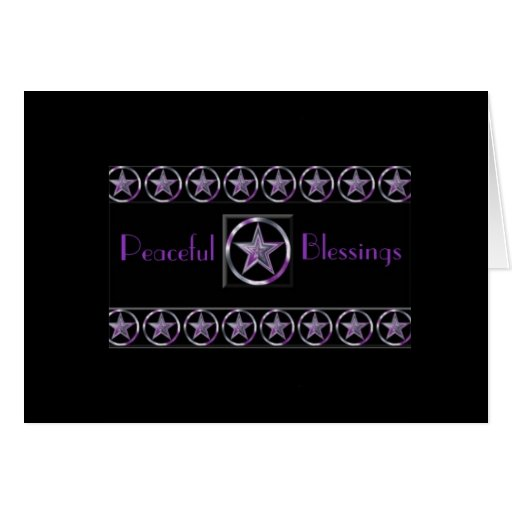 Peaceful Blessings Greeting card