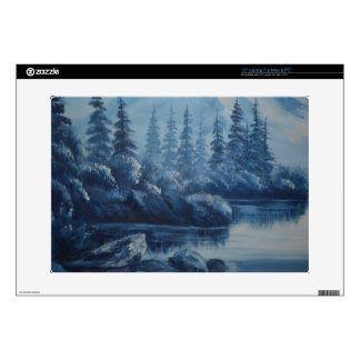 """Peaceful Blue Mountain Decal For 15"""" Laptop"""