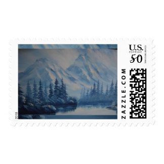Peaceful Blue Mountain Postage
