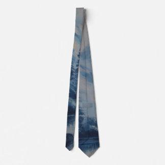 Peaceful Blue Mountain Tie
