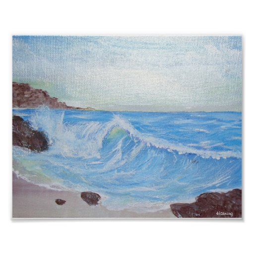 Peaceful Blue Seascape Poster