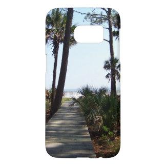 Peaceful boardwalk to the Atlantic Ocean Samsung Galaxy S7 Case