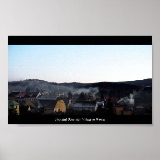 Peaceful Bohemian Village... Poster