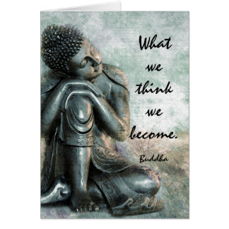 Peaceful Buddha words of wisdom Card