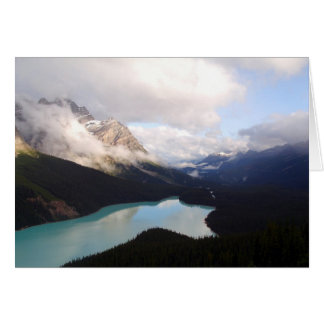 """Peaceful"" by Skye Ryan-Evans/Lake Peyto, Canada Card"