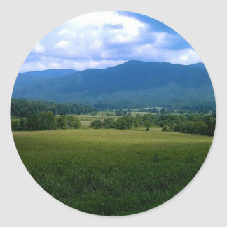 Peaceful Cades Cove Classic Round Sticker