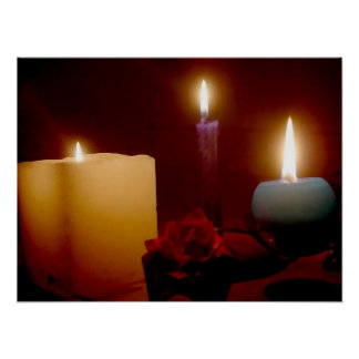 Peaceful Candle Dreams Poster